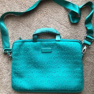 "Marc By Marc Jacobs Accessories - MARC by Marc Jacobs Turquoise 15"" Laptop Bag"